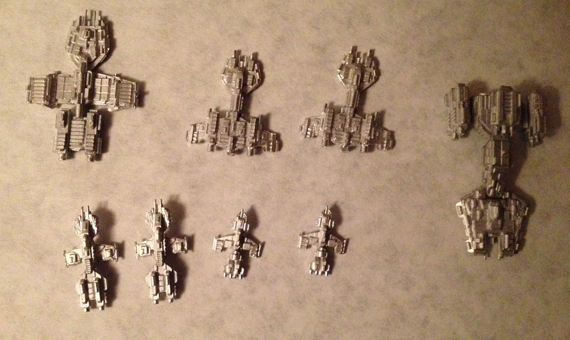 Here's the whole ESU fleet, ready for primer.   That will be in part 2.