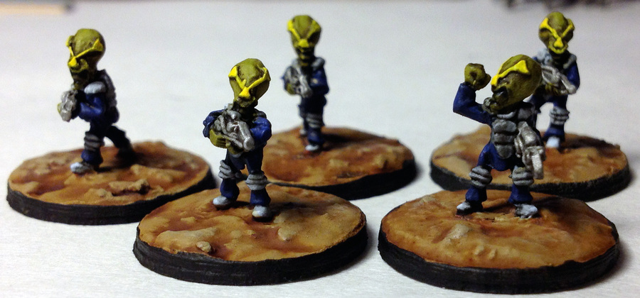 15mm Little Green Imperialist Warriors PLA-12