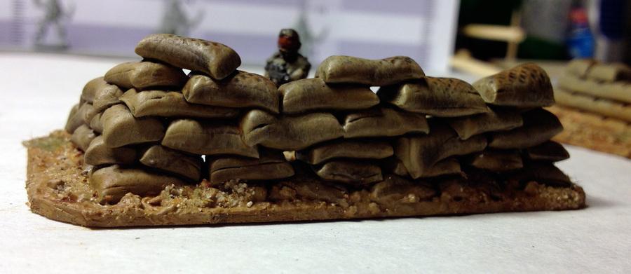 Green Stuff Sandbag Terrain 15mm